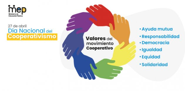 se ilustra unas manos abrazadas de otras reflejando el cooperativismo.