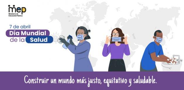 Se observan tres personas realizando labores de protección y desinfección.