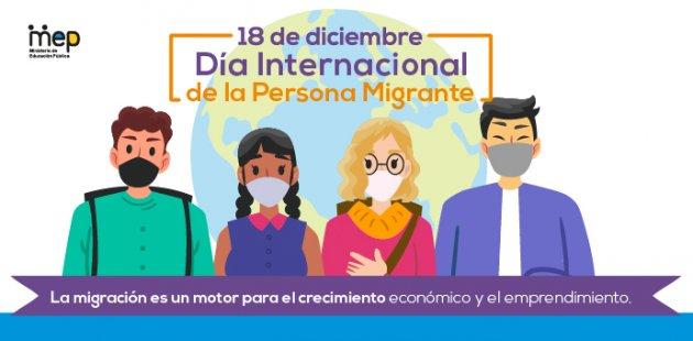 Afiche Digital que ilustra personas de diferentes naciones.