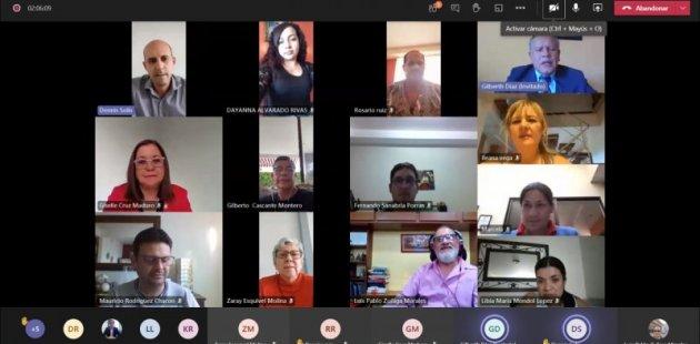 Foto muestra personas que participaron en reunión virtual