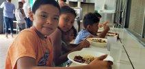 Estudiantes de la escuela La Rita de Pococí