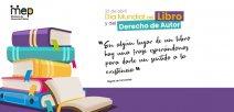 Se ilustra un par de libros apilados y con una frase motivadora.