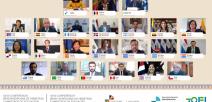Fotografía muestra a ministros de educación de iberoamérica en reunión virtual