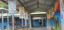 Foto de centro educativo promocionando la lectura