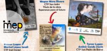 Afiche que muestra las tres primeras obras ganadoras.