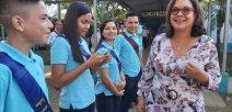 Ministra de Educación Guiselle Cruz enla inauguración del curso lectivo