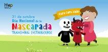 Afiche digital que ilustra las mascaradas tradicionales de Costa Rica