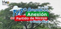 Árbol de Guanacaste acompañado de un texto.