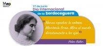 Afiche con la imagen de Helen Keller.