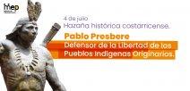Afiche con la imagen del Cacique Pablo Presbere
